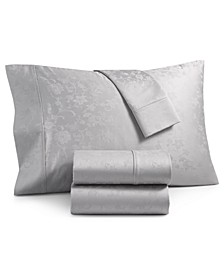 Bergen House Woven Floral Vine 4-Pc. King Extra Deep Sheet Set Cotton, 1000-Thread Count 100% Certified Egyptian Cotton