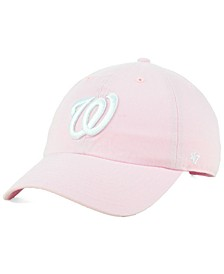 Washington Nationals Pink CLEAN UP Cap