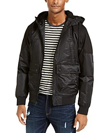 Men's Ross Hooded Bomber Jacket, Created For Macy's