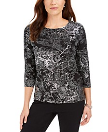 Jacquard Top, Created for Macy's