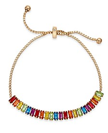 INC Baguette-Crystal Slider Bracelet, Created for Macy's