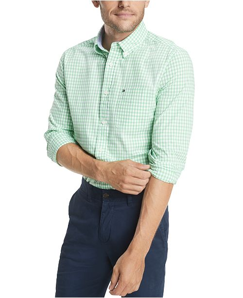 Tommy Hilfiger Men's Big & Tall Twain Gingham Check Shirt, Created for Macy's
