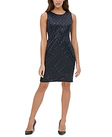 Petite Sequined Sheath Dress