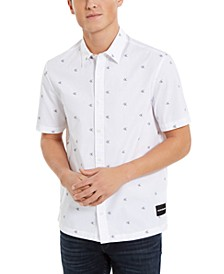 Men's Relaxed-Fit Monogram Logo Dobby Shirt
