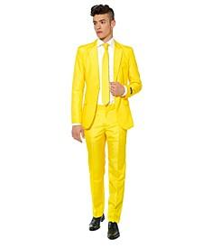 Men's Solid Yellow Color Suit