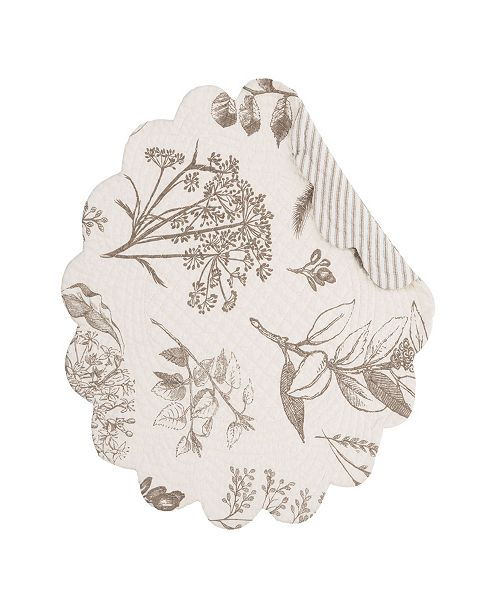 C&F Home C F Home Louisa Round Placemat, Set of 6