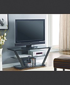 Hartford Tv Console with 2 Tiers Of Graduated Storage Shelves