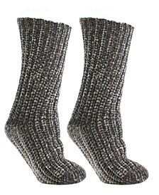Women's Shea Butter and Rose Oil Infused Velvet Vision Slipper Socks