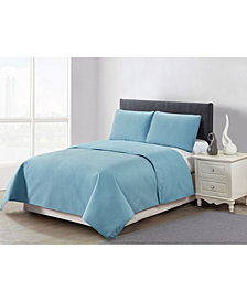 Casual Living Solid Color Box Stitch 3 Piece Quilt Set, King
