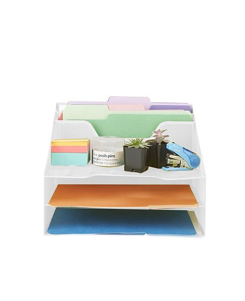 Mind Reader 5 Section Desk File Organizer, Document Letter Tray For Folders, Mail, Documents