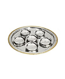 Seder Tray Mosaic Design with 6 Bowls