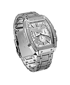 Men's Echelon Platinum Series Diamond (3 ct. t.w.) Stainless Steel Watch, 41Mm