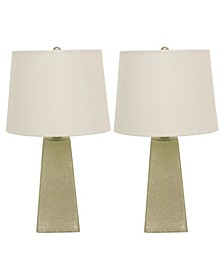 Decor Therapy Morning Dew Mercury Accent Table Lamps Set of 2