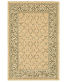 CLOSEOUT! Rugs, Indoor/Outdoor Recife 1016/5016 Garden Lattice Natural-Green