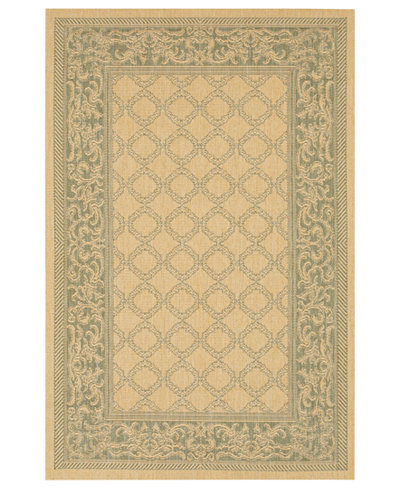 CLOSEOUT! Couristan Runner Rug, Indoor/Outdoor Recife 1016/5016 Garden Lattice Natural-Green 2'3