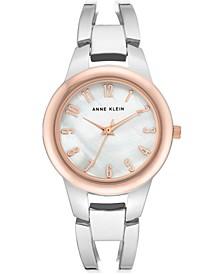 Women's Silver-Tone Bangle Bracelet Watch 33mm