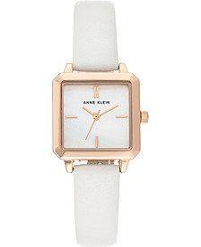 Women's White Strap Watch 26.5mm