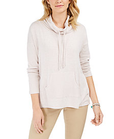 Style & Co Drawstring Cowl-Neck Sweater, Created for Macy's