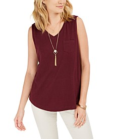 Cotton V-Neck Tank Top, Created for Macy's