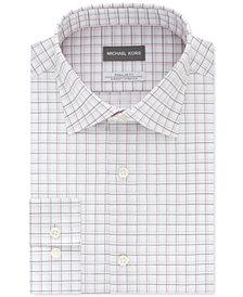Michael Kors Men's Classic/Regular-Fit Non-Iron Airsoft Performance Stretch Check Dress Shirt