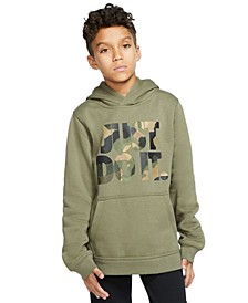 Big Boys Camo-Print Just Do It Hoodie