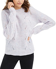 Juniors' Marled Mock-Neck Sweater