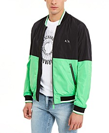 Men's Hyperbright Colorblocked Bomber Jacket, Created For Macy's