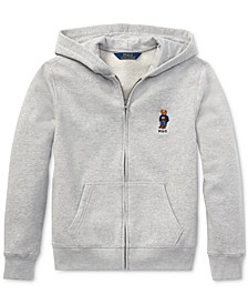 Big Boys Polo Bear Fleece Hoodie, Created For Macy's