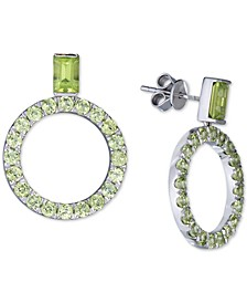 Peridot (4-3/8 ct. t.w.) Drop Hoop Earrings in Sterling Silver