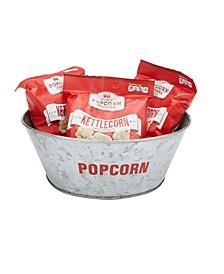Galvanized Popcorn Serving Bowl