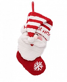 "19"" L 3D Santa Hooked Stocking"
