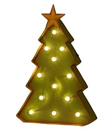 """16.14"""" H Holiday Christmas Tree Marquee Decor"""