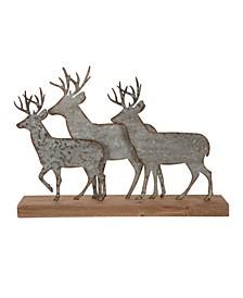 "13.19"" L Galvanized Metal Reindeer Table Decor"