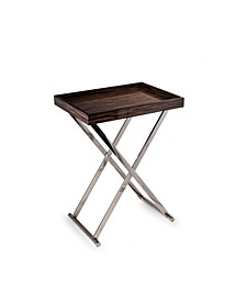 High Lacquered Wood Tray Table