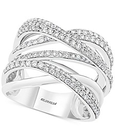 EFFY® Diamond Overlap Multi-Row Statement Ring (1 ct. t.w.) in 14k White Gold