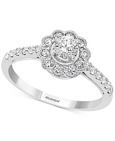 EFFY® Diamond Flower Statement Ring (5/8 ct. t.w.) in 14k White Gold