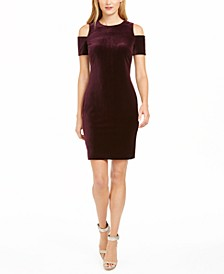 Velvet Cold-Shoulder Dress
