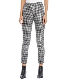 Gingham-Print Skinny Pants