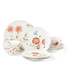 Butterfly Meadow Red 12-PC Dinnerware Set, Service for 4, Created for Macy's