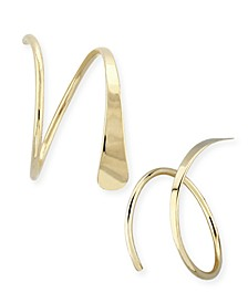 Endless Wire Cuff Earrings Set in 14k Gold