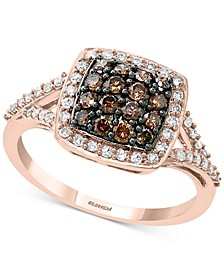 EFFY® Diamond Square Halo Cluster Ring (3/4 ct. t.w.) Ring in 14k Rose Gold