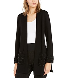 Embellished Open-Front Cardigan, Created For Macy's