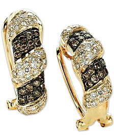 Chocolatier® Diamond Curved Drop Earrings (1-3/8 ct. t.w.) in 14k Gold