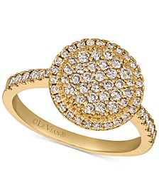 Creme Brulee® Nude Diamond Halo Cluster Statement Ring (3/4 ct. t.w.) in 14k Gold