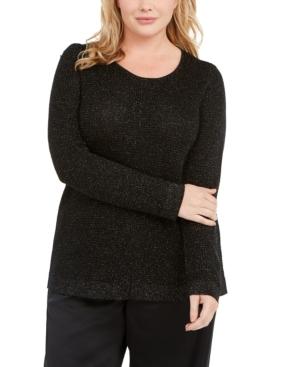 Eileen Fisher Sweaters METALLIC CREWNECK SWEATER