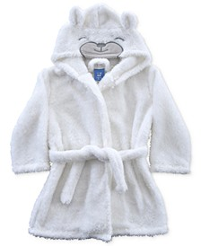 Baby & Toddler Boys & Girls Hooded Plush Polar Bear Robe, Created For Macy's
