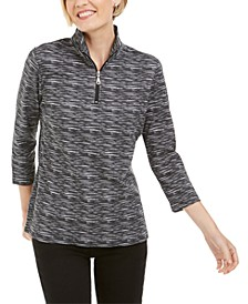 Zip-Neck Pullover, In Regular and Petite, Created for Macy's