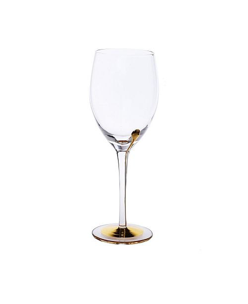 Classic Touch Set of 6 Water Glasses with Gold Tone Reflection