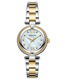 Women's Two Tone Stainless Steel Bracelet Watch, 32mm