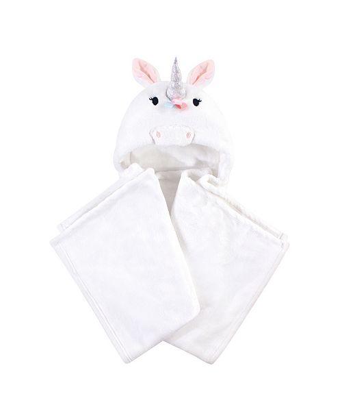 Hudson Baby Plush Hooded Blanket, Rainbow Unicorn